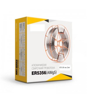Проволока сварочная Алюминиевая  ER5356 (AlMg5) d=0.8мм. 2кг