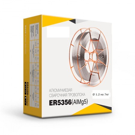 Проволока сварочная Алюминиевая  ER5356 (AlMg5) d=1.2 мм. 7кг